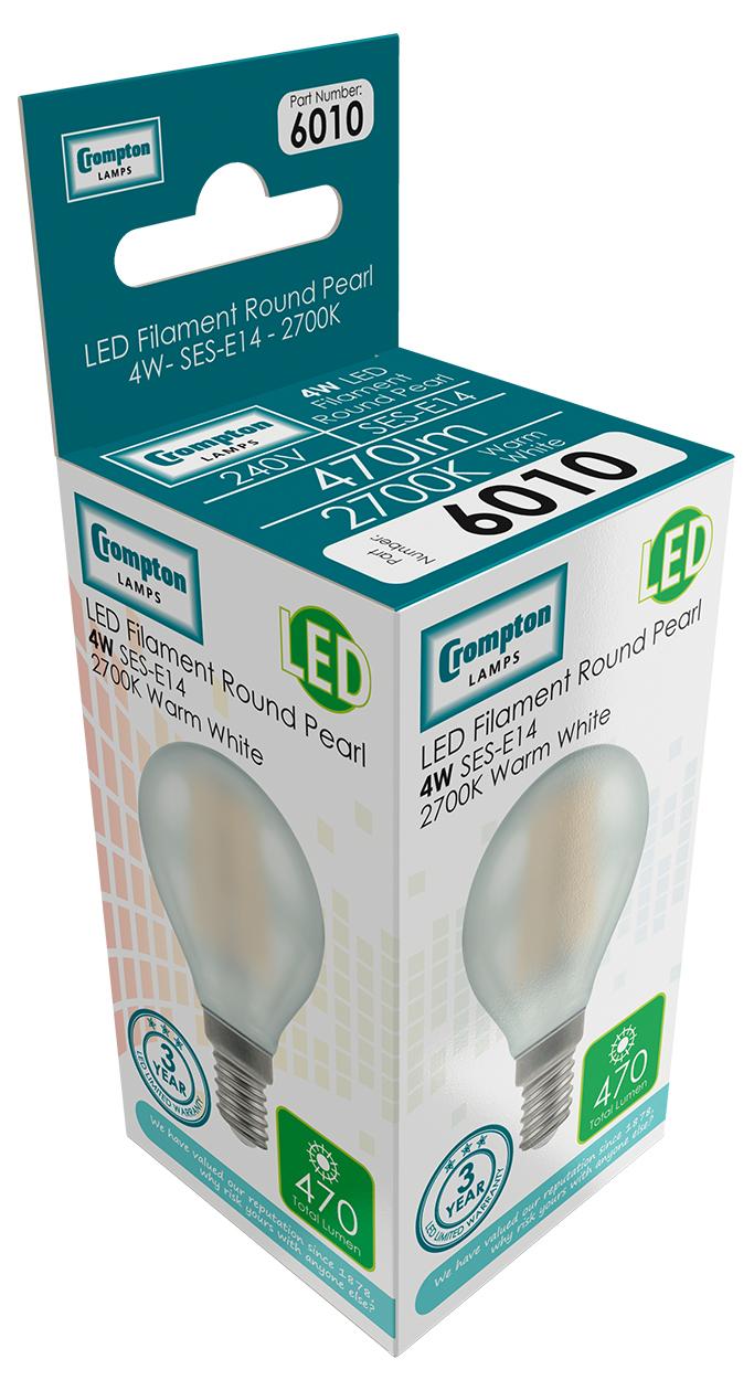 Crompton 6010 LED Round E14 4W 2700K