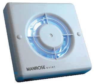 Manrose QF100S Axial Fan 100mm 4in White