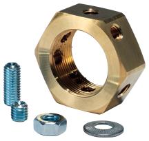 PEN20 Earthing Lock Nut 20mm Brass