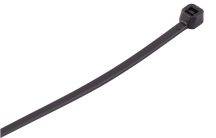 100mm x 2.5mm Black Nylon Cable Ties (Pack 100)