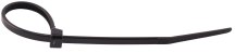 300mm x 4.8mm Black Nylon Cable Ties (Pack 100)