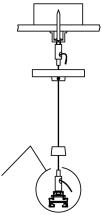 JCC Single circuit Wire suspension kit (2M) - White