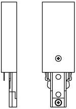 JCC Single circuit Power feed at track end - White