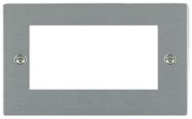 Hamilton Sheer Satin Stainless 4 Module EuroFix Plate