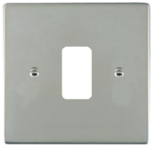 Hamilton Sheer Bright Stainless 1 Gang Aperture Grid Fix Plate