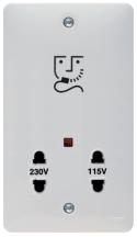 Hager WMSO100 Shaver Socket 115/230V