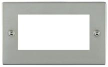 Hamilton Sheer Bright Stainless 4 Module EuroFix Plate