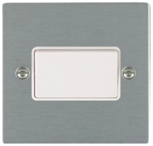 Hamilton Sheer Satin Stainless 1 Gang 10A Triple Pole Rocker Switch with White Inserts + White Surround