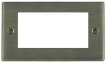 Hamilton Hartland Antique Brass 4 Module EuroFix Plate