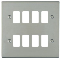 Hamilton Sheer Bright Stainless 8 Gang Aperture Grid Fix Plate
