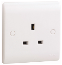 Eaton P111 Unswitched Socket 1G 13A Whi