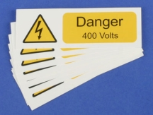 Ind Signs IS2210SA Danger 400V Lbl Pk10
