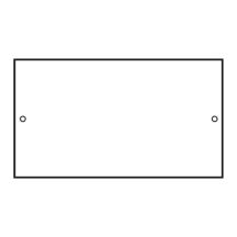 ETrak CR020 Blank Plate 100mm