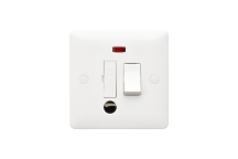 MK Base MB1070WHI 13A Double Pole Switched Connection Unit Flex Outlet + Neon