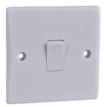 Schneider GU1012 Plate Switch 1 Gang 2 Way 16AX