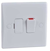 Schneider GU5010 Double Pole Switched Spur 13A White