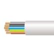 3185Y 2.5mm x 50m PVC Round Flexible Cable White