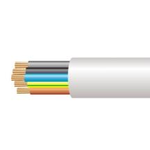 3185Y 2.5mm x 100m PVC Round Flexible Cable White