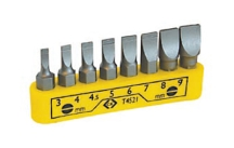 CK Tools 8 Piece Screwdriver Bit Clip Set - Slotted