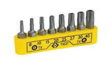 CK Tools 8 Piece Screwdriver Bit Clip Set - TX Tamperproof