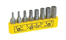 CK Tools 8 Piece Screwdriver Bit Clip Set - Hexagon Tamperproof