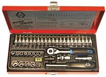 """CK Tools 39 Piece 1/4"""" Drive Socket Set"""