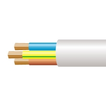 3183B 1.0mm x 100m Low Smoke & Fume (LSOH) Round Flexible White
