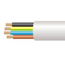 3184B 1.0mm x 100m Low Smoke & Fume (LSOH) Round Flexible White