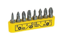 CK Tools 8 Piece Screwdriver Bit Clip Set - PH/PZ
