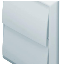 Domus 5900W Wall Outlet Rnd 125mm Whi