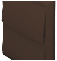 Domus 5900B Wall Outlet Rnd 125mm Brn