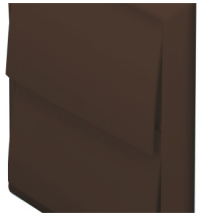Domus 6900B Wall Outlet Rnd 150mm Brn