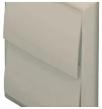 Domus 5900C Wall Outlet Rnd 125mm Bge