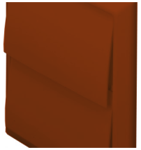 Domus 4900T Wall Outlet 100mm Terracotta