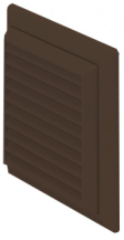 Domus F6904B Louvred Grille 150mm Brn