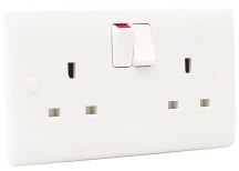 BG 822DP Socket Outlet Double Pole Switched 13A
