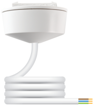 Klik PCR2000/2.0 White 3 Pin Pre-Wired Plug-In Ceiling Rose 2m 6A