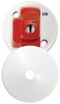 Klik CR64AX White 4 Pin Plug 74mm x 44mm 6A