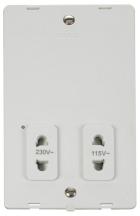 Click SIN100PW DV Shaver Socket Interior