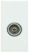 Click MM410WH Socket CoAx Female Whi