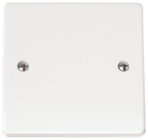 Click CMA060 Blanking Plate 1 Gang White