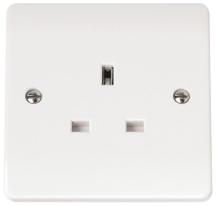 Click CMA030 Socket 1 Gang 13A White
