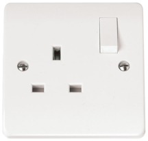 Click CMA035 Socket 1 Gang Switched 13A White
