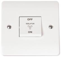 Click CMA020 Switch Fan Isolator 10A White