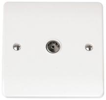 Click CMA065 Socket Coaxial Single White