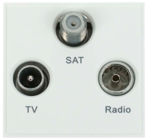 Click MM430WH Socket TV FM Sat Whi