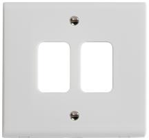 Deta G3302 Frontplate 2 Gang White