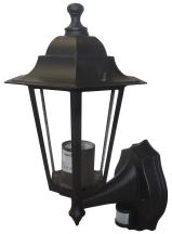 Deta L2843B 6 Panel Alum Lantern & PIR