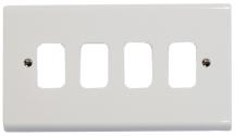 Deta G3304 Frontplate 4 Gang White