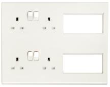 Deta S1985 Media Plate Socket Whi
